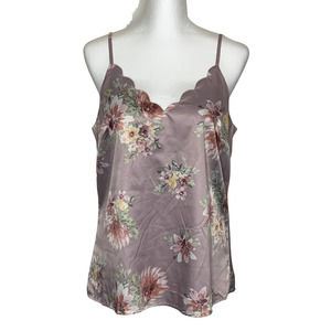Skies are Blue Floral Satin Lined Cami M